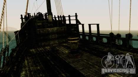 Flying Dutchman 3D для GTA San Andreas вид изнутри