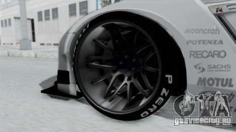 Nissan GT-R R35 2010 Liberty Walk для GTA San Andreas вид сзади слева