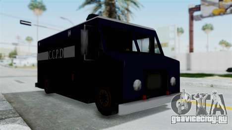 CCPD Boxville from Manhunt для GTA San Andreas вид справа