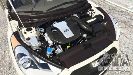 Hyundai Veloster Turbo для GTA 5 вид спереди справа