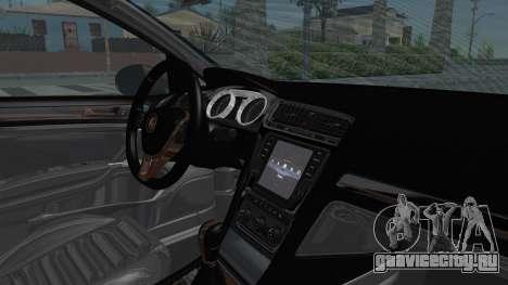 Volkswagen Golf 7 Stance для GTA San Andreas вид изнутри