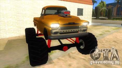 1958 Chevrolet Apache Monster Truck для GTA San Andreas вид сзади