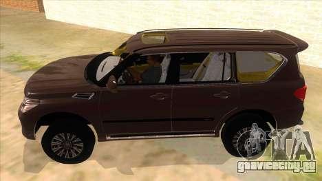 Nissan Patrol 2016 для GTA San Andreas вид слева
