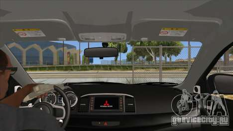 Mitsubishi Lancer Evolution X Tunable для GTA San Andreas вид изнутри