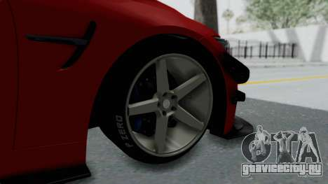 BMW M4 F82 Race Tune для GTA San Andreas вид сзади слева