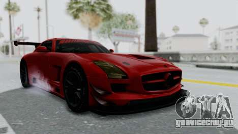 Mercedes-Benz SLS AMG GT3 PJ6 для GTA San Andreas вид справа