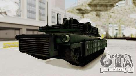 M1A2 Abrams Woodland Croatian для GTA San Andreas вид справа