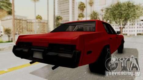 Dodge Monaco 1974 Drag для GTA San Andreas вид слева