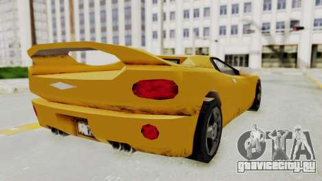 GTA 3 Infernus для GTA San Andreas вид слева