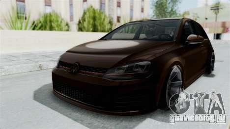 Volkswagen Golf 7 Stance для GTA San Andreas вид справа