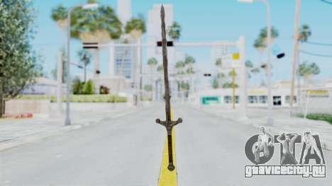 Skyrim Iron Claymore для GTA San Andreas второй скриншот