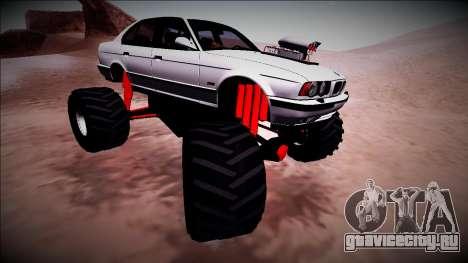 BMW M5 E34 Monster Truck для GTA San Andreas вид сбоку