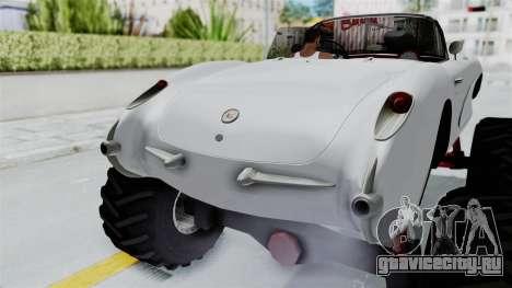 Chevrolet Corvette C1 1962 Monster Truck для GTA San Andreas вид сверху