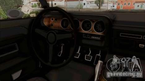 Dodge Challenger 1970 Monster Truck для GTA San Andreas вид изнутри