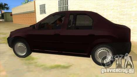 Dacia Logan V2 Final для GTA San Andreas вид слева
