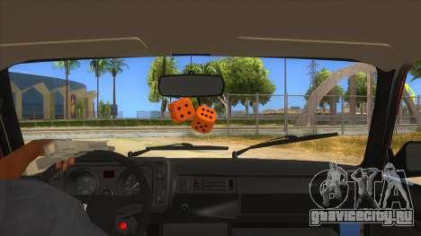 ВАЗ 2107 Ржавый Гринго для GTA San Andreas вид изнутри