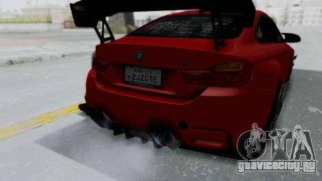 BMW M4 F82 Race Tune для GTA San Andreas вид изнутри