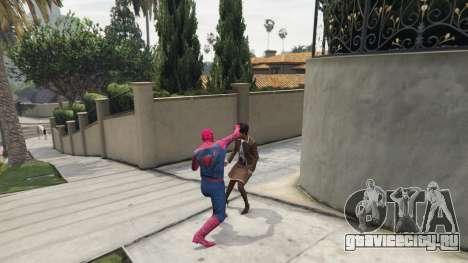 Человек-паук для GTA 5 третий скриншот