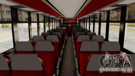 Superlines Ordinary Bus для GTA San Andreas вид изнутри