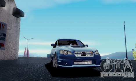 Subaru Legacy STi Wagon 2008 для GTA San Andreas вид сзади слева