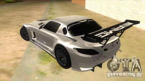 Mercedes Benz SLS AMG GT3 для GTA San Andreas вид сзади слева