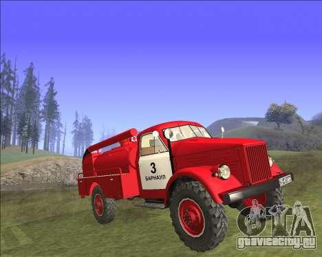 Газ 63 Пожарная машина для GTA San Andreas вид сзади слева