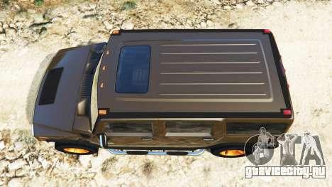 Hummer H2 2005 [с тонировкой] v2.0 для GTA 5 вид сзади