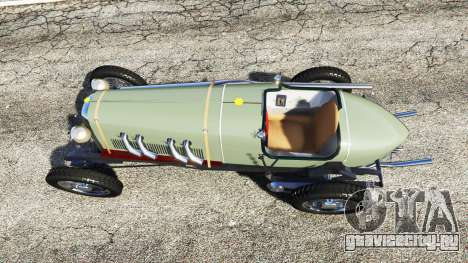 Fiat Mefistofele для GTA 5 вид сзади