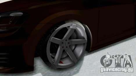 Volkswagen Golf 7 Stance для GTA San Andreas вид сзади