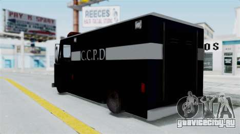 CCPD Boxville from Manhunt для GTA San Andreas вид слева