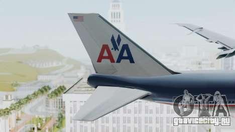 Boeing 747-200 American Airlines для GTA San Andreas вид сзади слева