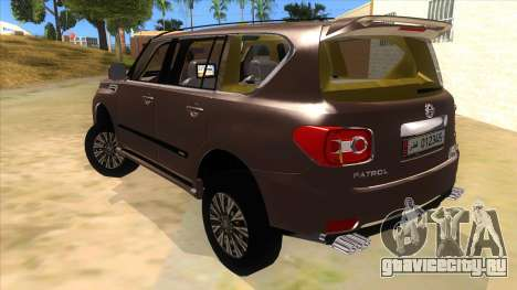 Nissan Patrol 2016 для GTA San Andreas вид сзади слева