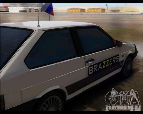 Ваз 2108 Боевая Классика для GTA San Andreas вид сзади слева