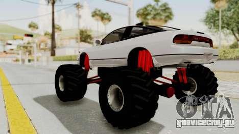 Nissan 240SX Monster Truck для GTA San Andreas вид сзади слева