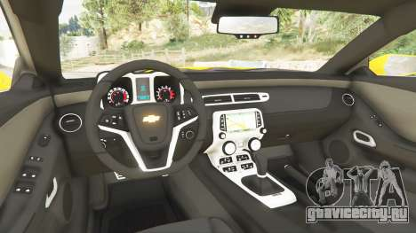 Chevrolet Camaro SS 2014 v1.1 для GTA 5 вид сзади справа