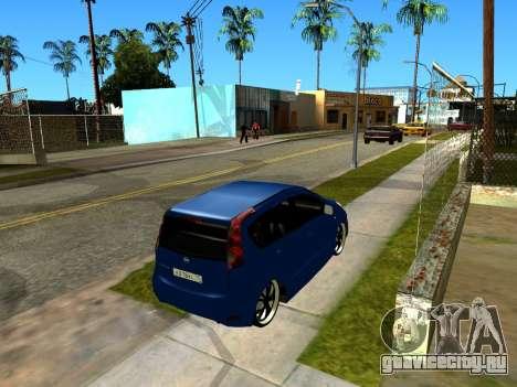 Nissan Note KURMIN StreetRacer для GTA San Andreas вид изнутри