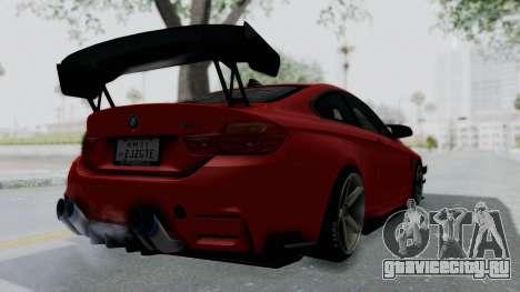 BMW M4 F82 Race Tune для GTA San Andreas вид слева