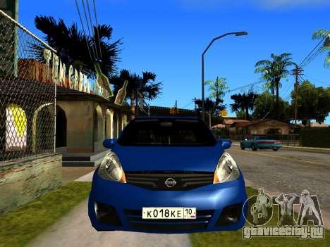 Nissan Note KURMIN StreetRacer для GTA San Andreas вид справа