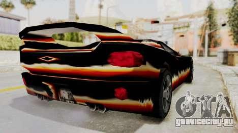 GTA 3 Diablos Infernus для GTA San Andreas вид сзади слева