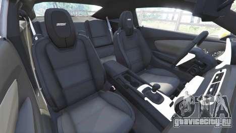 Chevrolet Camaro SS 2014 v1.1 для GTA 5 вид справа