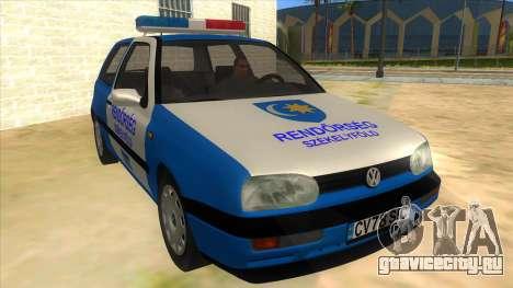 Volkswagen Golf 3 Police для GTA San Andreas вид сзади