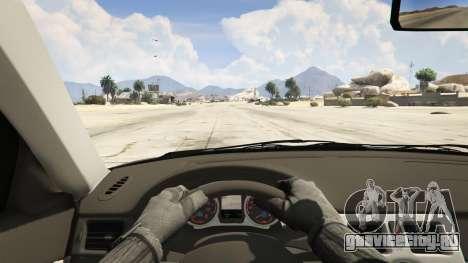 Лада Седан Баклажан для GTA 5 вид сзади справа