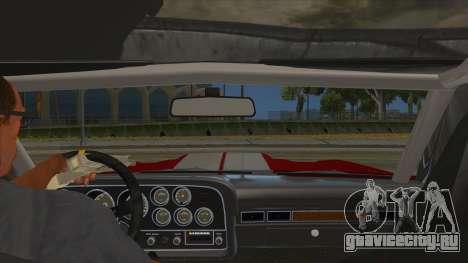 1972 Ford Gran Torino Drag для GTA San Andreas вид изнутри