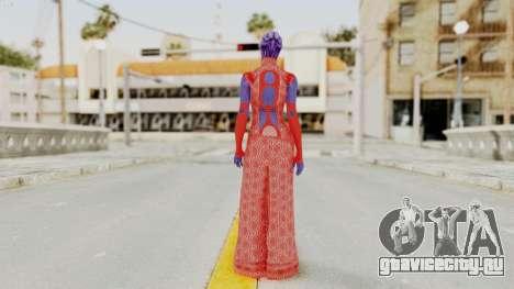 Mass Effect 3 Aria TLoak Dress для GTA San Andreas третий скриншот