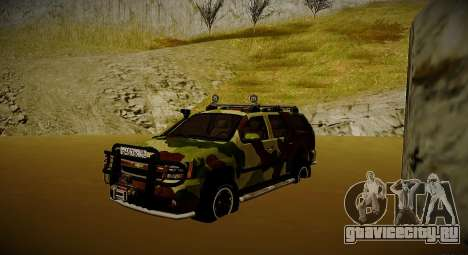 Chevrolet Tahoe LTZ v2 Camofluge для GTA San Andreas