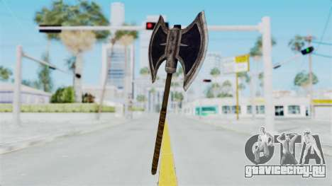 Skyrim Iron Battle Axe для GTA San Andreas