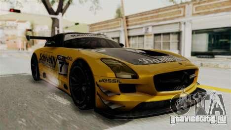 Mercedes-Benz SLS AMG GT3 PJ3 для GTA San Andreas вид сбоку