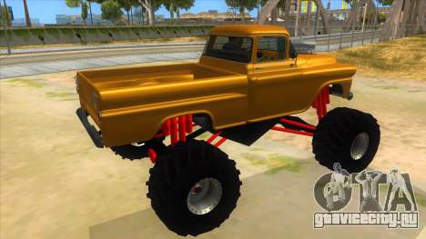1958 Chevrolet Apache Monster Truck для GTA San Andreas вид справа