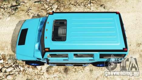 Hummer H2 2005 [без тонировки] v2.0 для GTA 5 вид сзади