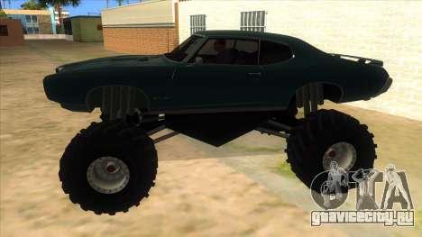 1969 Pontiac GTO Monster Truck для GTA San Andreas вид слева